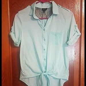 Rue 21 Teal Short Sleeved top